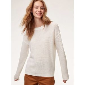 Wilfred Free Isabelli Waffle-Knit Ivory Sweater